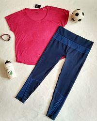 Костюм лосины и майка, футболка для спорта йоги зала