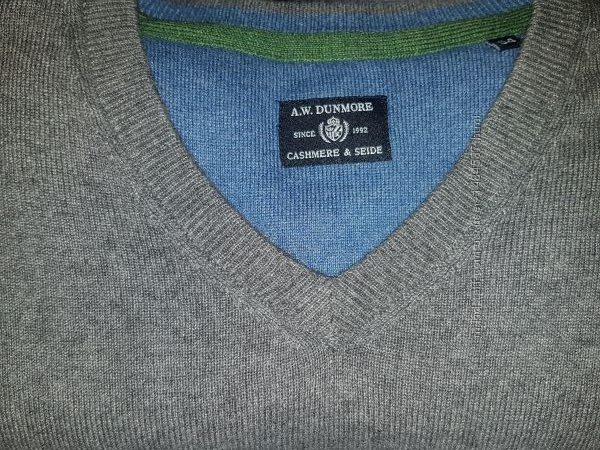 Кашемир и шелк A. W. Dunmore Германия свитер джемпер р. 54