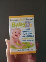 Витамин Д3 для дітей, California Gold Mutrition, США