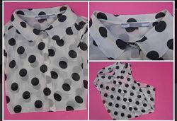 Блуза рубашка без рукавов шифоновая