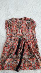 Платье Zara  туника с карманами шифон
