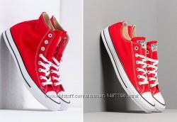 Кеды унисекс Конверс Converse All Stars Red-White. Высокие и низкие