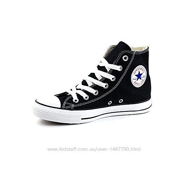 Кеды Конверс Converse All Stars Высокие Черно-белые