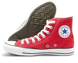 Высокие красные кеды Converse All Star Chuck Taylor женские
