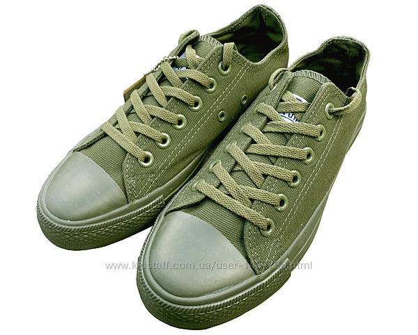 Кеды конверс Зеленые Converse All Star мужские Хаки