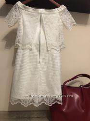 Шикарное кружевное платье . платье гипюровое. бренд zara. eur 36  хс-с