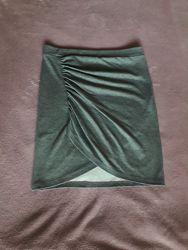 Ассиметричная юбка, с разрезом спереди, на запах H&M, р. S
