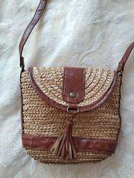 Плетеная сумка из соломки atmosphere