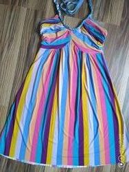 Яркий сарафан, летний сарафан, платье.