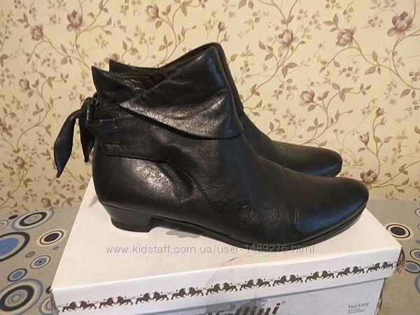 Ботинки кожаные,  40 Италия