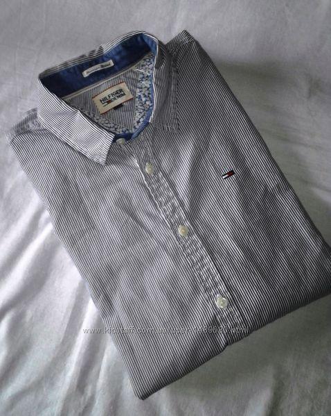 TOMMY HILFIGER denim Рубашка в полоску, хлопковая. Оригинал.