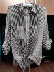 Блуза-рубашка шифоновая, р-р L-XXL