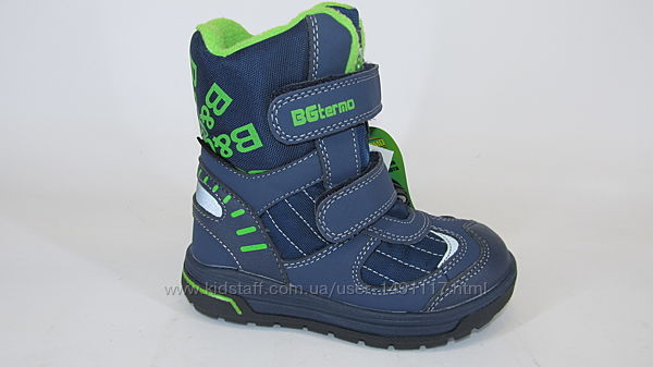 25-32р новые зимние термо ботинки термики сапожки B&G Би джи на овчине сини