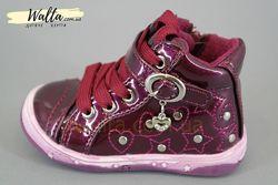 20-25р Apawwa детские деми ботинки чобітки девочке бордовые с утеплением