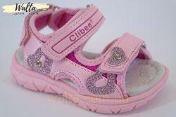 20-25р детские босоножки босоніжки Clibee клиби открытые девочке розовые