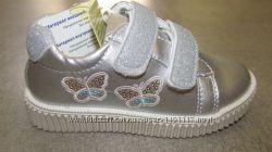 26р новые стильные кеды - кроссовки кросівки Beeko девочке эко-кожа сере