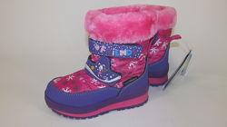 22-27р новые зимние термо ботинки термики сапожки B&G Би джи овчина девочке