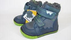 19-23р D. D. STEP новые кожаные шкіряні зимние ботиночки сапожки Венгрия ст