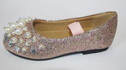 26-30р детские новогодние туфли туфельки балетки девочке на праздник утренн