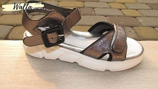 31-34р Детские подростковые босоножки сандали стильные девочке Bessky сереб