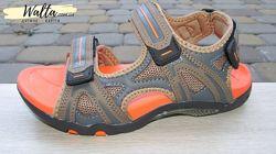34-39р Детские подростковые босоножки сандали мальчику B&G Би джи коричневы