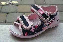 24-28р текстильные детские босоножки - тапочки девочке Валди Waldi