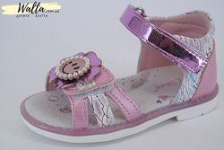 21-26р Детские босоножки босоніжки ортопед для девочки розовые Clibee клиби