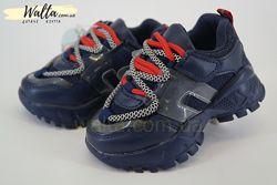21-26р Детские кроссовки кросівки мальчику Tom. m Том. м B7888A томики синие