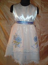 Нарядное платье на 4 - 5, 6 - 7 лет.