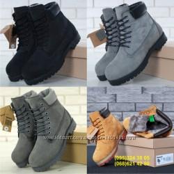 Зимние мужские ботинки Timberland. Натуральный мех.
