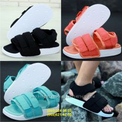 Женские сандали босоножки Адидас Adidas Sandals Black, Mint, Rose White