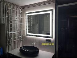 Влагостойкое зеркало с LED подсветкой в ванную комнату 600х800мм