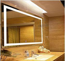 Влагостойкое зеркало с LED подсветкой в ванную комнату 60х80см