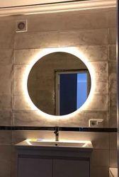 Влагостойкое зеркало с LED подсветкой в ванную комнату 600Х600мм