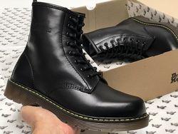 Мужские ботинки Dr. Martens Black. Ботинки Доктор Мартинс. Демисезон.