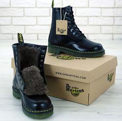 Зимние женские ботинки Dr. Martens. Black