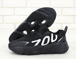 Мужские кроссовки Adidas Yeezy Boost 700. Адидас Изи. Black