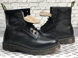 Зимние мужские ботинки Dr. Martens. Black. Ботинки Доктор Мартинс.