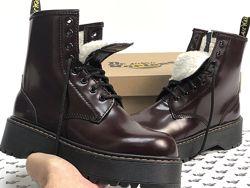 Зимние женские ботинки Dr. Martens JADON. Brown. С мехом.