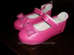 Туфли туфельки нарядные на девочку 22 размера