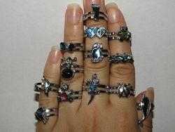Симпатичные , модные детские кольца колечки для юных красавиц