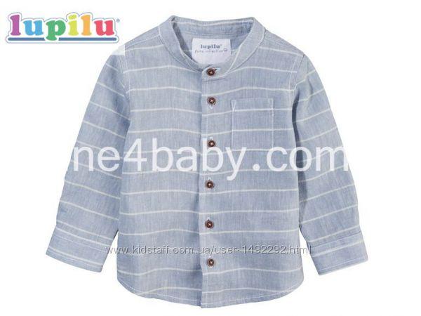 Детская летняя рубашка Lupilu на мальчика 0-1, 1-2 мес