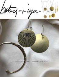 Betsy & iya авторские серьги браслет в подарок бохо, ручная раб