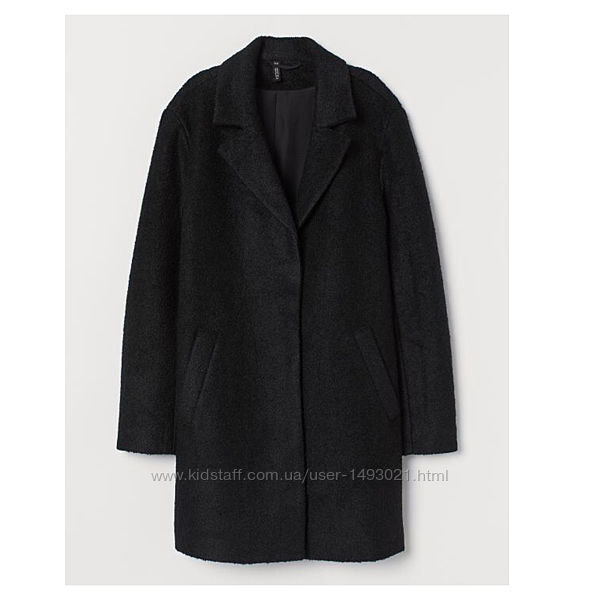 Пальто H&M оверсайз, бойфренд 43  шерсти