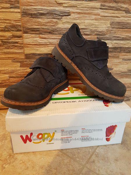 Туфлі для хлопчика нубук 28 р. Woopy БУ