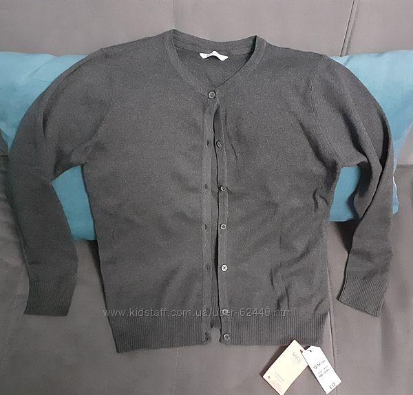 Кардиган школьный M&S р. 13-14лет серый Новый
