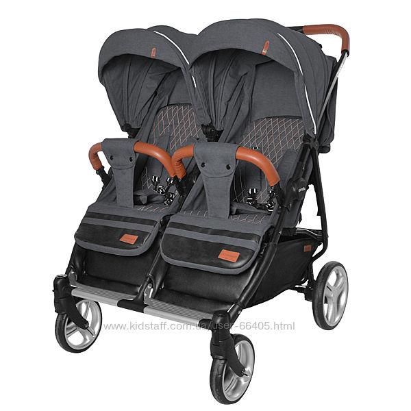 Прогулочная коляска для двойни  близнецов CARRELLO Connect Каррелло