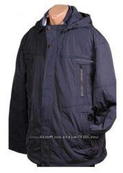Размеры 60 до 70 Мужская демисезонная куртка с капюшоном SAZ 566e264336969