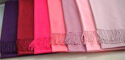 Теплый однотонный кашемировый шарф палантин цвета в наличии
