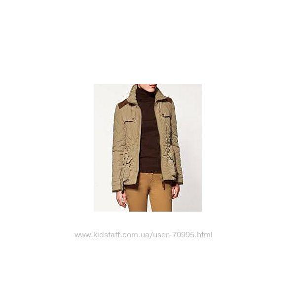 Демисезонная стеганая куртка с воротником ZARA